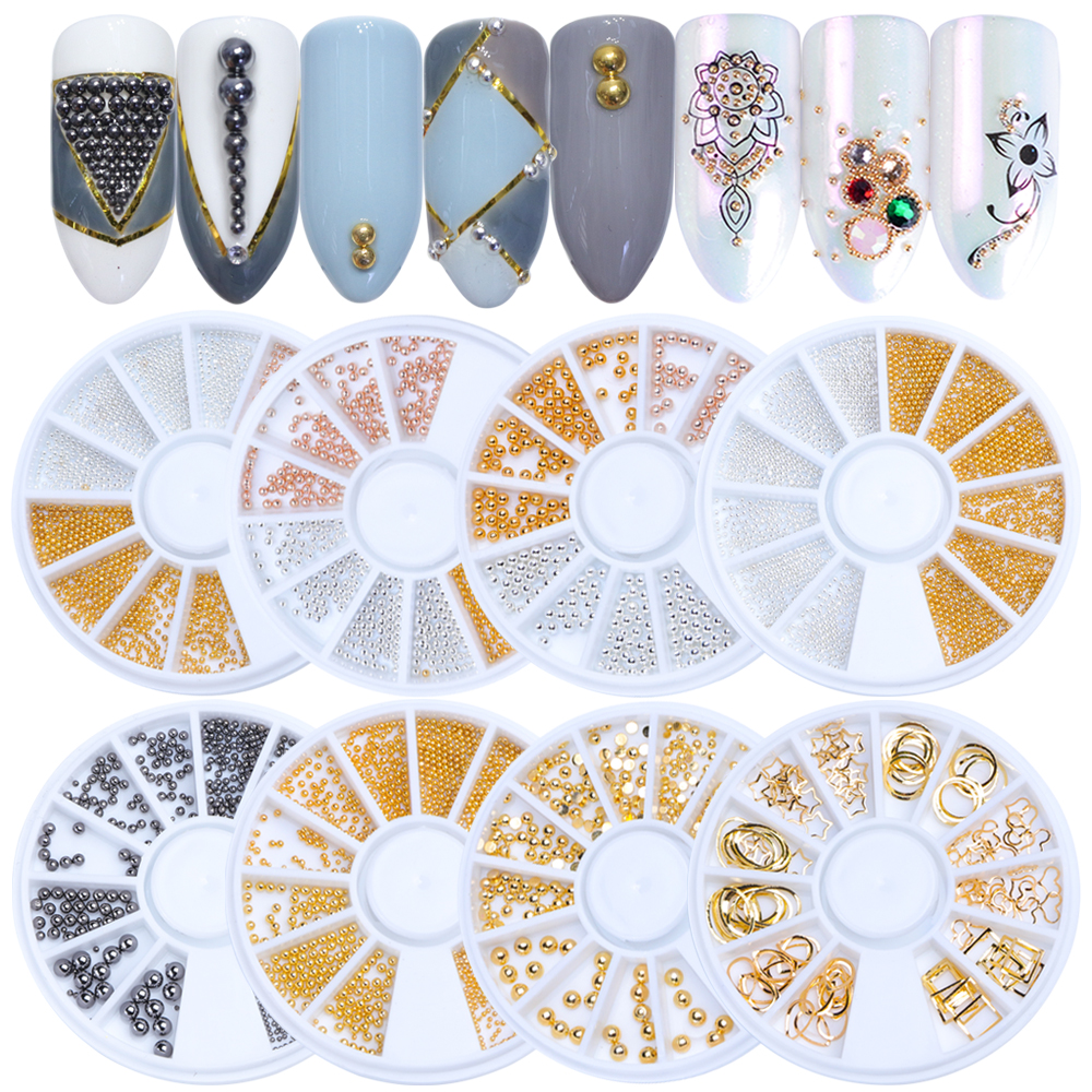 Nagelglitzer Verantwortlich 1 Rad Stahl Nail Art Strass Glitter Metall Perlen Gold Silber Schmuck Mini Caviar Design Diy Nagel Studs Maniküre La662 Nails Art & Werkzeuge