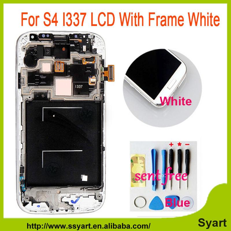 ФОТО 10pcs/lot tested Screen white Replacement Part For Samsung Galaxy S4 I337 M919 LCD Display Touch screen Digitizer With Frame