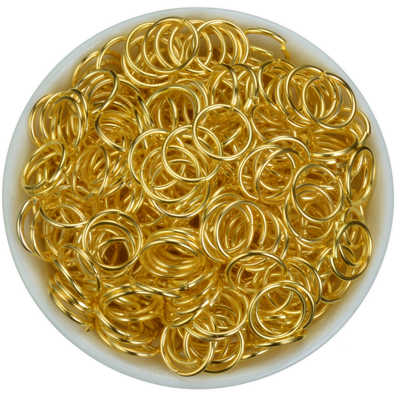 200pcs 4mm 6mm 8mm 10mm Jump Ring Single Loop Open Jump Rings Split Rings for Jewelry Necklace Bracelet Chain Connector Findings in Jewelry Findings Components from Jewelry Accessories