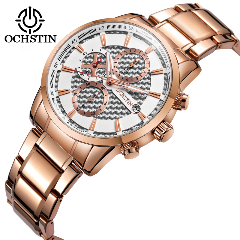 2018 Fashion Top Luxury Brand OCHSTIN Watches Men Quartz Watch Stainless Steel Band Unique Watch Clock Man relogio masculino fashion watch top brand oktime luxury watches men stainless steel strap quartz watch ultra thin dial clock man relogio masculino