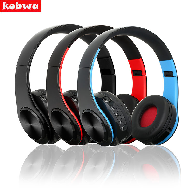 Bluetooth Headset Foldable Over-ear Wireless Wired Stereo Support TF Card Noise Cancelling Built-in Micr Handfree Call Headphone