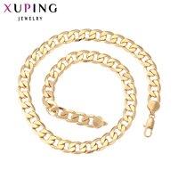 11.11 עסקות Xuping שרשרת למעלה איכות מיוחדת עיצוב אופנה צבע זהב מצופה תכשיטי שרשרת תליון גדול סגולה מתנות 40879