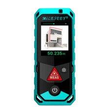MILESEEY P7 80 м 100 м 150 м 200 м Bluetooth лазерный дальномер с поворотным Сенсорный экран лазерный измеритель с Камера точка Finder