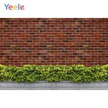 Yeele обои для фотосъемки красный кирпич стекло ретро фоны персонализированные