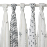 120x120cm 100 Muslin Cotton Baby Swaddling Blanket Newborn Infant Swaddle Towel