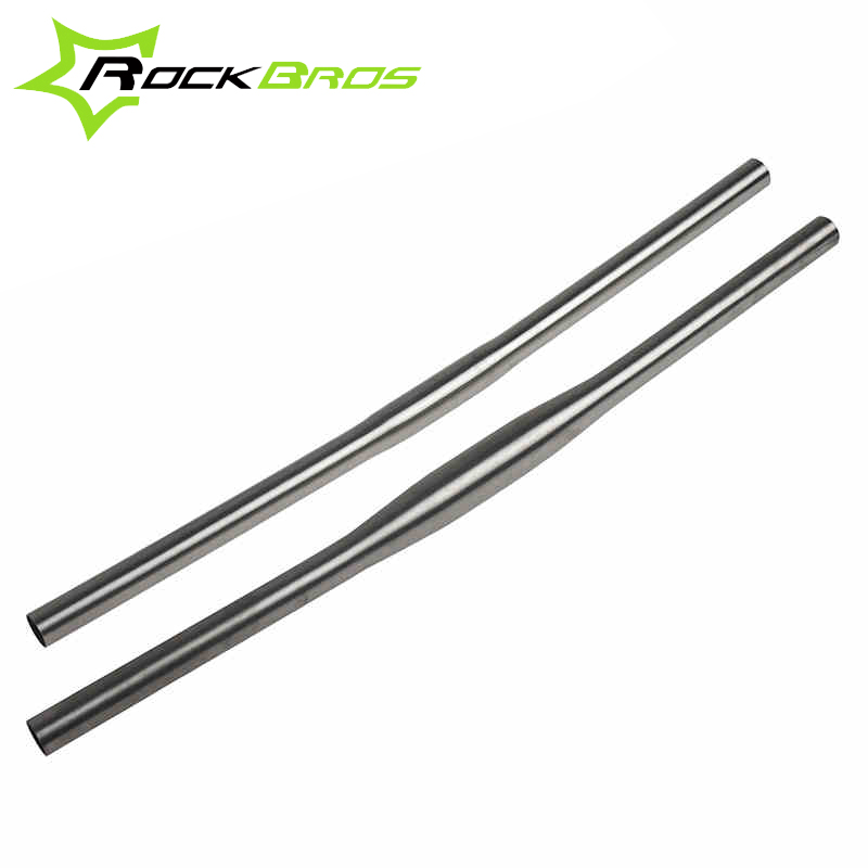 ROCKBROS Titanium Ti MTB XC Straight Flat Handlebar 25.4mm/31.8mm Mountain Bike Bicycle One-shape Handlebar Horizontal Handlebar
