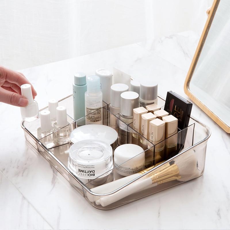 LIYIMENG Makeup Organizer Cosmetic Storage Desktop Office Box Stationery Sorting Shelf Bathroom Rack Living Room Container makeup organizer box
