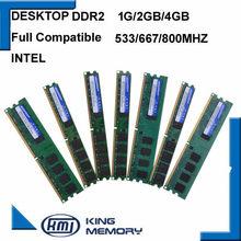 Kembona ddr2 ram totalmente compatível computador desktop ddr2 1g/2 gb/4 gb 800 mhz/667 mhz/533 mhz para intel placa-mãe DIMM-240-Pins desktop