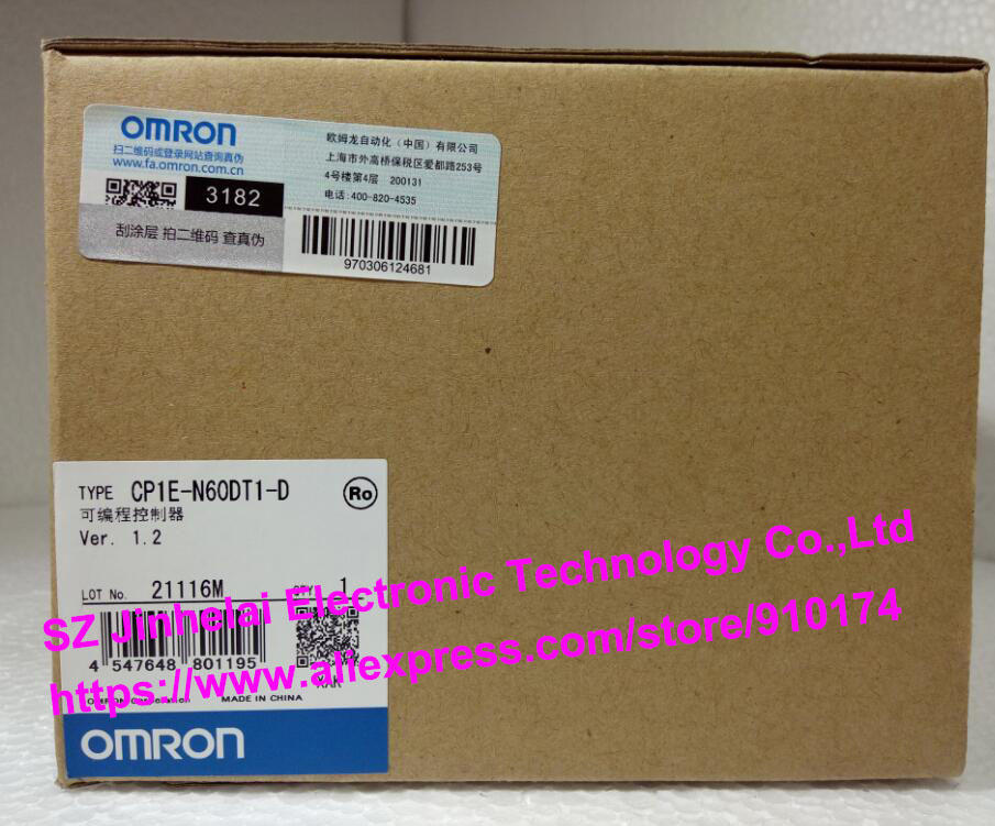 100% New and original CP1E-N60DT-D,  CP1E-N60DT1-D  OMRON PLC CONTROLLER [zob] 100% brand new original authentic omron omron photoelectric switch e2s q23 1m 2pcs lot