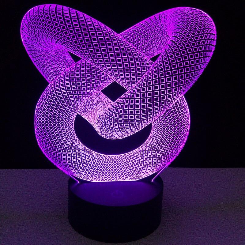 Горячая Распродажа, светодиодный ночник, держатель, 7 цветов, меняющий светильник, держатель, 3D 10, светодиодный светильник, база, Porta Lampada, сенсорный Ночной светильник