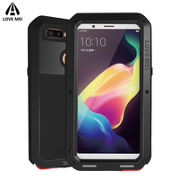 Love Mei Metal Armor Case For OPPO R11s Cover Powerful Aluminum Shockproof Life Waterproof Case For