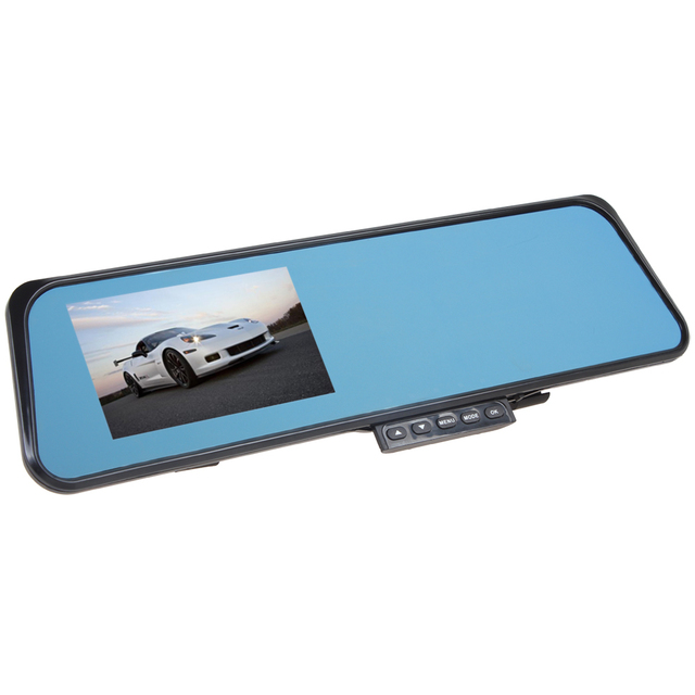 HD 4.3 Inch Digital Zoom Double Lens G-Sensor Car DVR IR Night Vision Car Camera Rearview Mirror Vehicle Traveling car Recorder