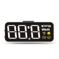 H90 Universal Alarm Car GPS HUD Head Up 200km/h Speed Display Overspeed Warning