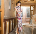 Free shipping fashion short sleeve long dress Qipao Dresses vintage chinese style cheongsam dress Chinese dress 7 color