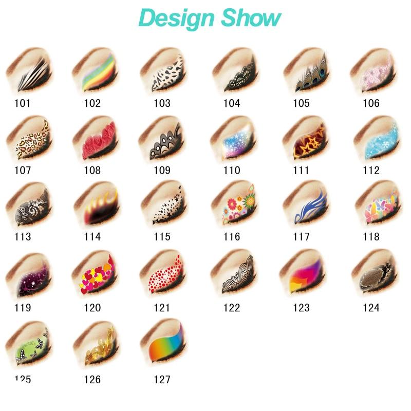 12box Mix Design 2pair/box Beauty Temporary Waterproof Eyeshadow Fake Eye Shadow Flash Tattoo Tatouage Femme Halloween Wholesale