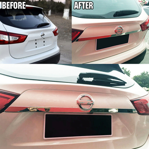 Image 2 - For Nissan Rogue Sport Qashqai j11 2014   2019 Chrome Rear Trunk Lid Tailgate Door Handle Cover Trim Molding Car Styling