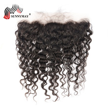Sunnymay Water Wave Lace Frontal With Baby Hair 13x4 Pre Plucked Malaysian Virgin Hair Bleached Knots