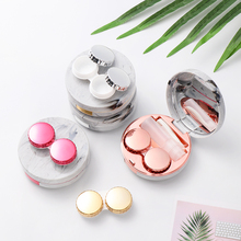 Case Lenses-Box Contact-Lens Storage Glasses Marble Travel Mini Portable Cute Fashion