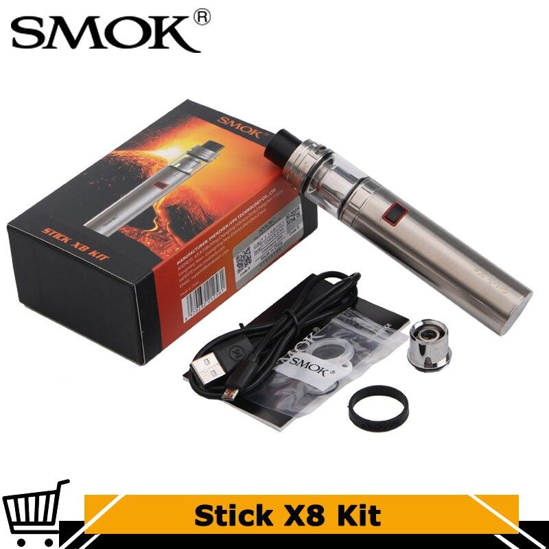 Kit Original de stylo de Vape du bâton X8 de SMOK avec la batterie 3000 mah 4 ml TFV8 x-baby Tank avec le vaporisateur électronique de Cigarette de X Baby M2 X4
