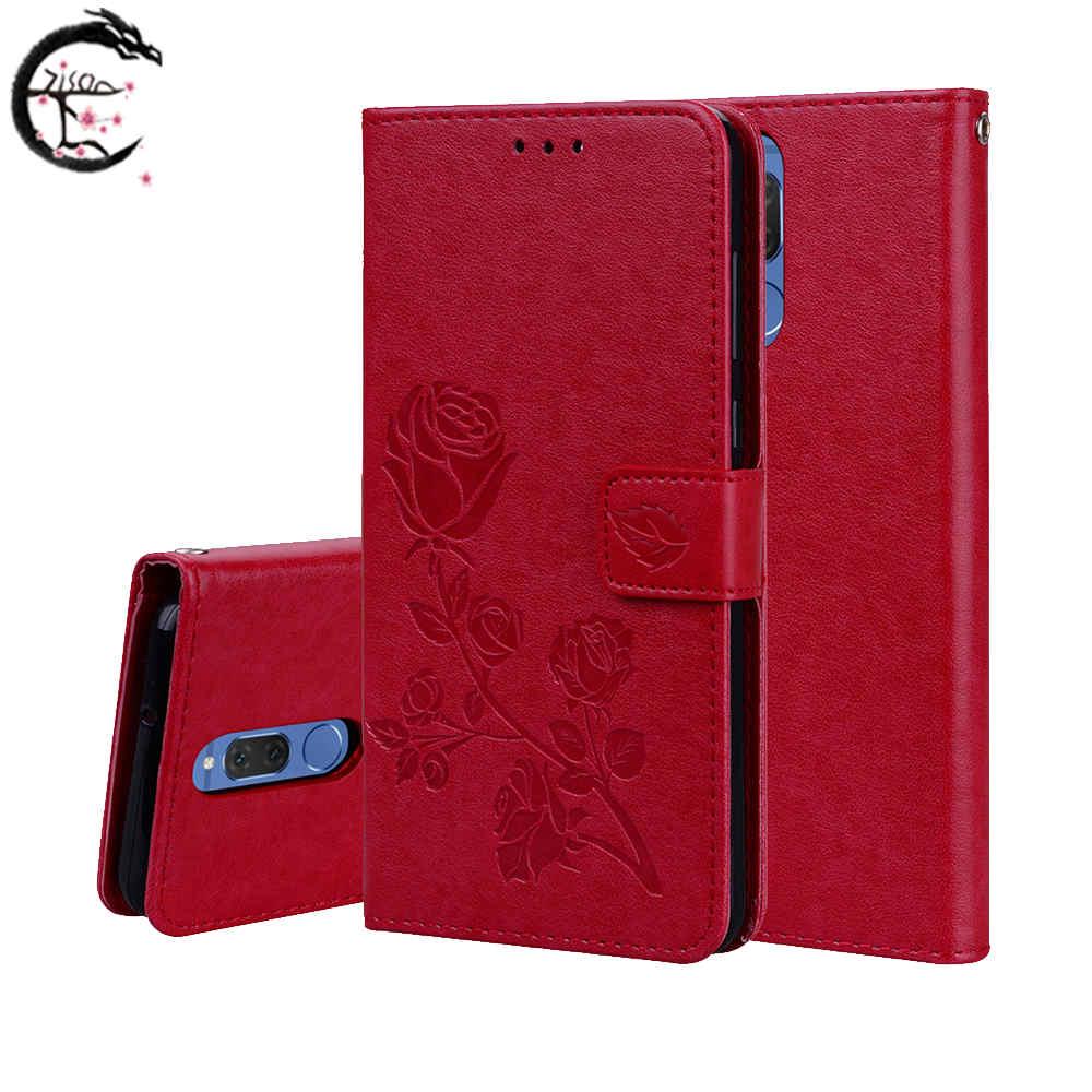 Flip Case For Huawei Mate 10 Lite Mate10 Mate10lite Nova 2i Nova2i Phone PU Leather Cover Card Cases Stand Slots Coque Capa