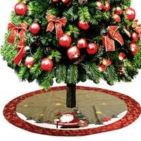 1.2m Christmas Tree Decorative Skirt Apron Santa Claus New Year Party Home Supermarket Mall Xmas Tree Decoration Supplies