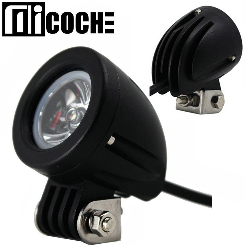10W Spotlight LED Work Light Driving Light Car SUV ATV 4WD AWD 4X4 Tractor Offroad Cone Round Truck Motorcycle Fog Headlight