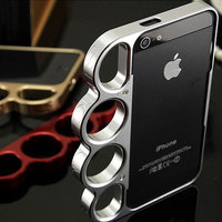 100 Aluminium Alloy Boxing For IPhone 5 5s Bumper Fashion Lord Rings Knuckles Finger Phone Frame