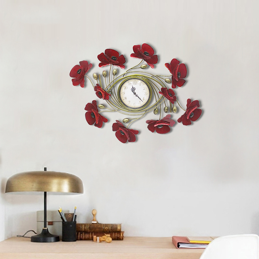 Big modern wall clock red in the living room nightmare before christmas unique watch modern clocks zegar large clock 50KO573 in Wall Clocks from Home Garden