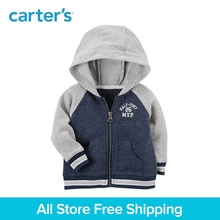 Carter's 1-piece baby children kids clothing Boy Spring Zip-Up Kanga pockets MVP French Terry Hoodie 127H185