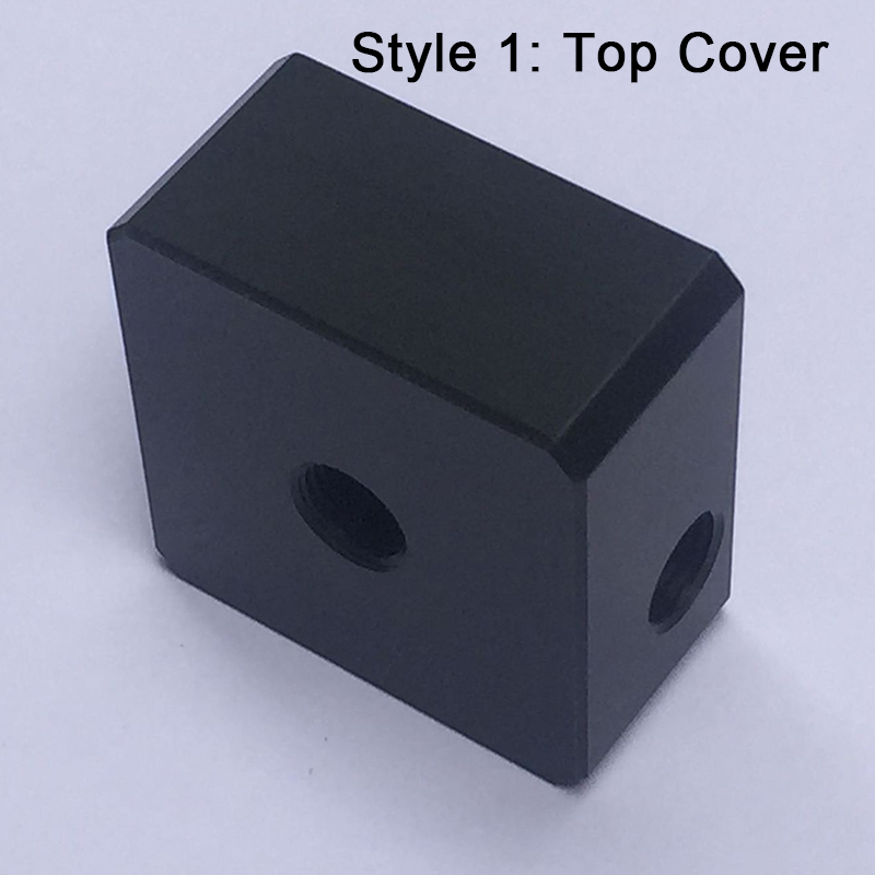 SC600 Water Pump Cover Threaded Inlet and Outlet Computer Water Cooling Cooler Black POM Pump and Cover Combination