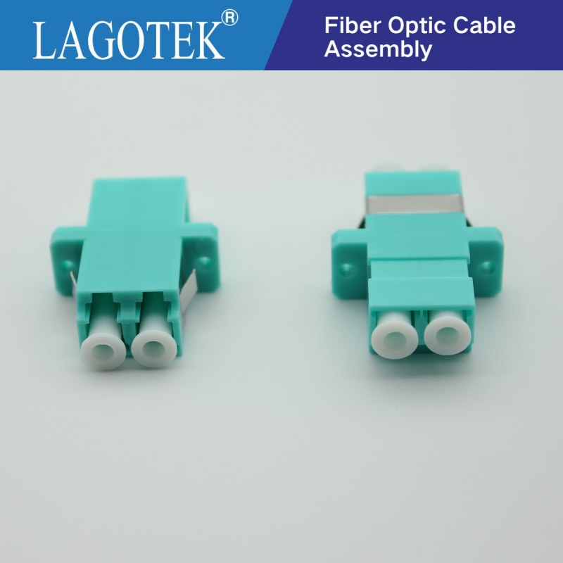 25PCS/bag LC UPC Mulit Mode Fiber Optic Adapter OM3 LC UPC Optical Fiber Coupler LC Fiber Flange LC UPC Connector Free Shipping