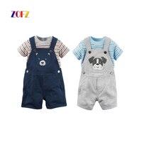 ZOFZ Summer Baby Clothing 2Pcs Set New Fashion Clothing For Babies Cute O Neck Short Boy