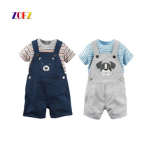 ZOFZ Summer Baby Clothing 2Pcs/Set New Fashion Clothing for babies Cute O-Neck Short Boy Set Suit for bebes 2017 baby clothes
