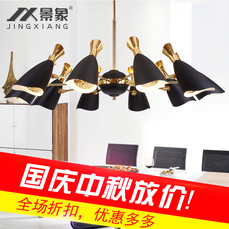 Postmodern minimalist atmosphere living room, spider chandelier, Nordic creative personality, iron dining room, lamps and lanter the postmodern chandelier of the scandinavia minimalist american led lamp house creative personality chandelier fg297