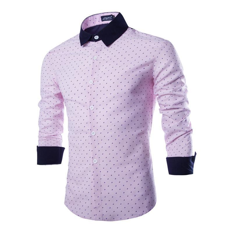 acef1792baa0 Fashion Male Long Sleeves Stripe Sale New Clothes Uomo Shirts Full ...