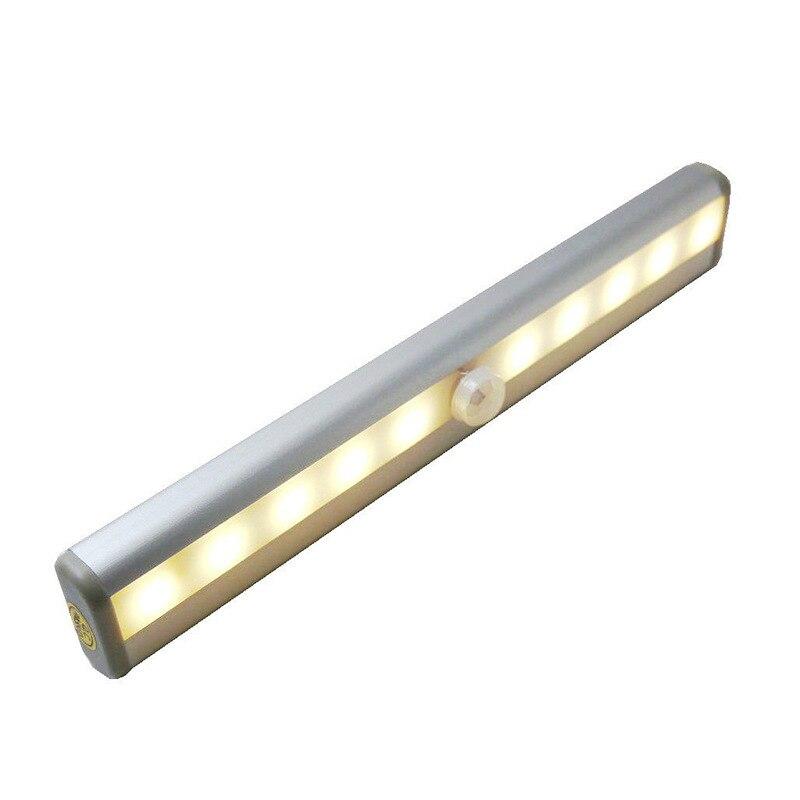 Creative LED Night Light  Human Sensor Lamp Intelligent Infrared 10led Wall Cabinet
