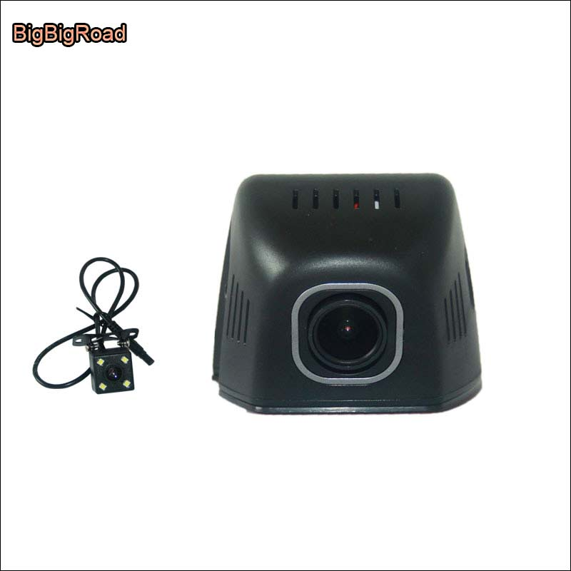 BigBigRoad For ford mondeo Car Wifi DVR Driving Video Recorder Dual lens Parking camera Car Black Box no damage to car bigbigroad for toyota sequoia car parking camera app control car wifi dvr video recorder dual lens car black box camcorder