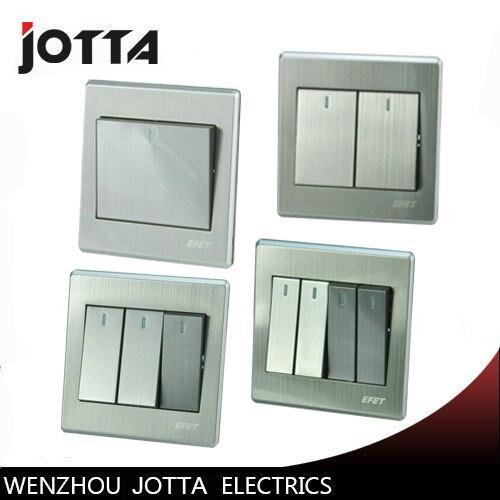 Luxury Wall Switch Panel, Light Switch,1 Gang 2 Way/2 gang 2 way Push Button 16A,110~250V, 220V