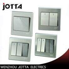 Luxury Wall Switch Panel, Light Switch,1 Gang 1 Way Push Button LED Indicator 16A,110~250V, 220V стоимость