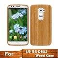 Cubierta de bambú, teléfono de madera Natural casos para G2 madera Case para Optimus D802 lujo genuino respaldo de madera lindo cubre