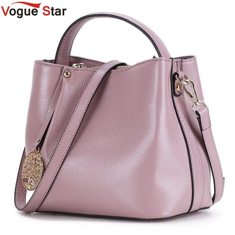 Vogue Star 2017 New Fashion Women font b Handbags b font Bucket Genuine font b Leather
