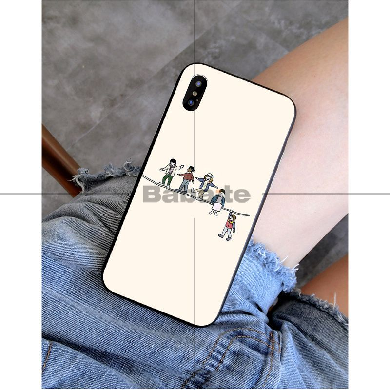 Babaite Stranger Things Black TPU Soft Silicone Phone Case Cover for iPhone 8 7 6 6S Plus 5 5S SE XR X XS MAX Coque Shell in Half wrapped Cases from Cellphones Telecommunications