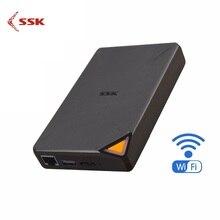 SSK แบบพกพาไร้สายภายนอกไดรฟ์สมาร์ท Hard Disk 1TB Cloud Storage WiFi Remote Access HDD สำหรับแท็บเล็ตแล็ปท็อป USB