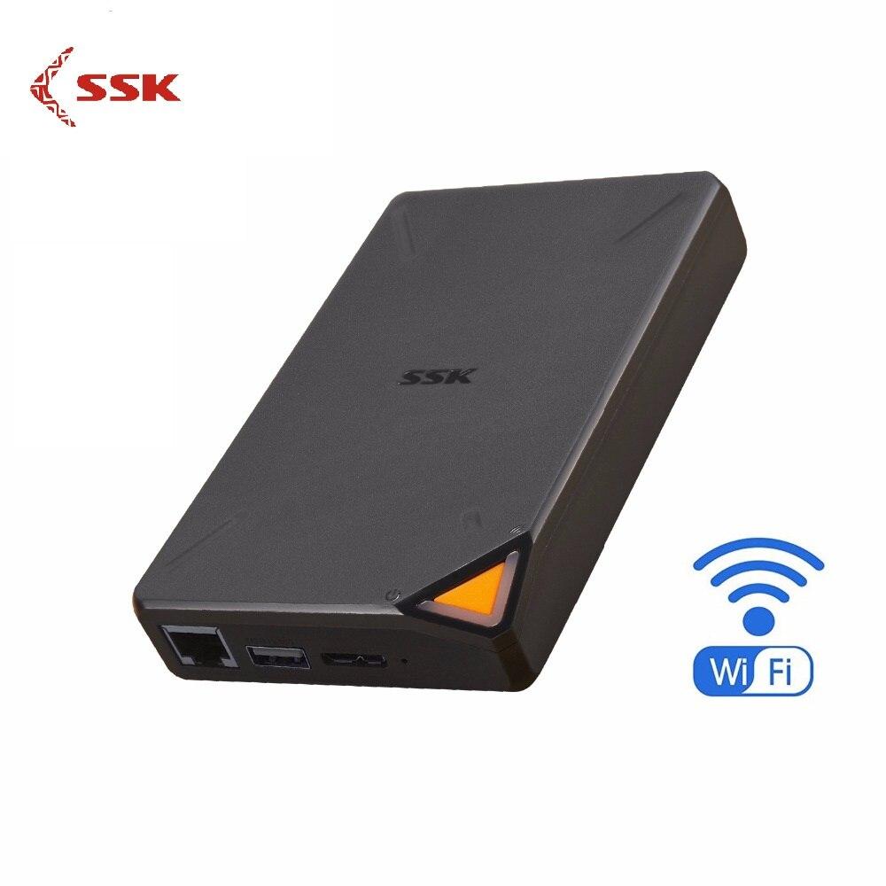 SSK Portable sans fil disque dur externe disque dur intelligent 1 to Cloud stockage WiFi accès à distance HDD boîtier pour tablette ordinateur Portable USB