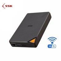 SSK SSM F200 Portable Wireless External Hard Drive Hard Hisk Smart Hard Drive 1TB Cloud Storage 2.4GHz WiFi Remote Access