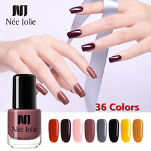 NEE JOLIE Nail Polish Pure Colors Coffee Gray Red Series Lacquer Varnish Manicure Decoration 7.5ml 3.5m