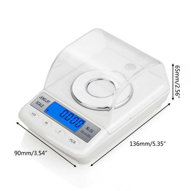 Độ Chính Xác cao 0.001 gam 50 gam Kỹ Thuật Số Đồ Trang Sức Quy Mô Bột LCD Điện Tử Carat Scale-m35