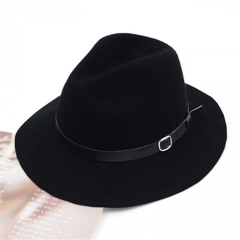 ab7da46c8e9 Spring Summer Winter Vintage Bowler Floppy Feminino Sun Cap Ladies Dancing Wool  Soft Wide Brim Fedora Hat -in Fedoras from Apparel Accessories on ...