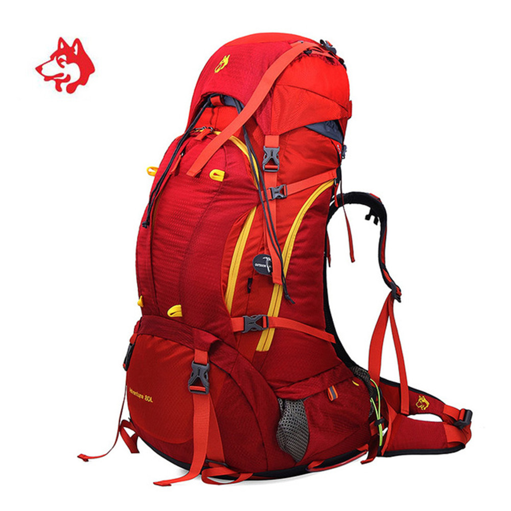 80L Big Capacity Sports Outdoor Travel Tourist Hiking Backpack camping Trip Bag For Camping Waterproof Trekking