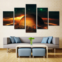Saturn Galaxy 5 Panel Printed Modular Picture Painting Planet Nature Landscape for Wall Art Home Decor Canvas Unframed